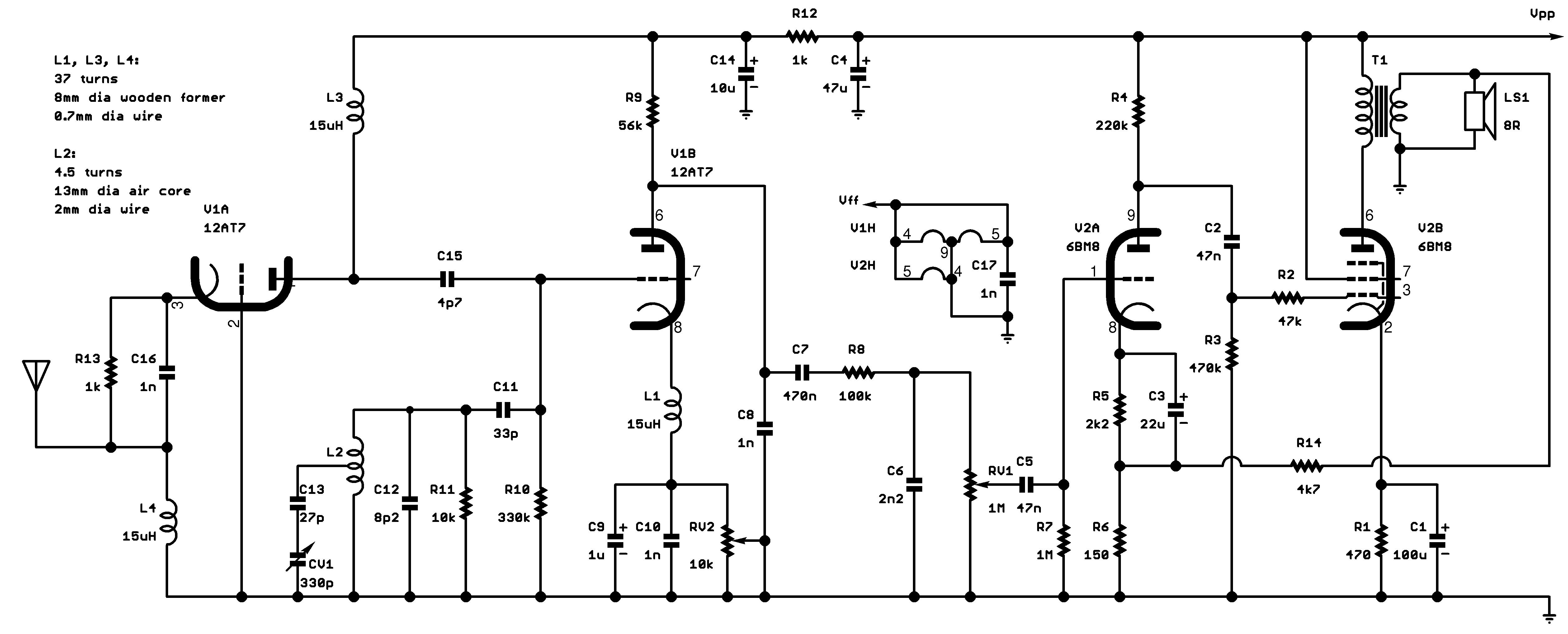 Two Valve Fm Radio Bc548 Heat Sensor Circuit Diagram
